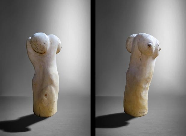 «Woman».Bouleau(h:100,d:25)